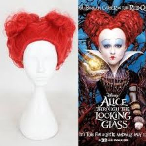 QUEEN of HEARTS/ALICE in WONDERLAND RED WIG & CAP